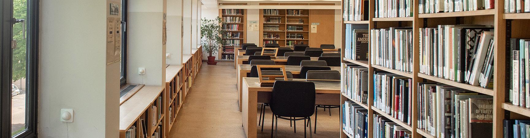 Rows of desks next to windows
