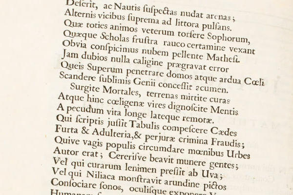 A printed page in Latin