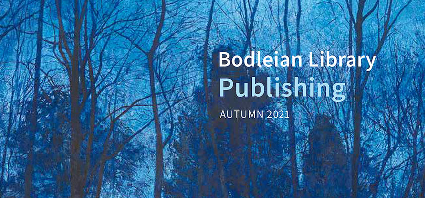 A catalogue cover depicting trees in dark blue light