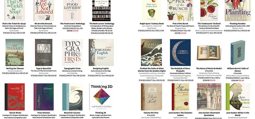 A snapshot of book covers illustrating the types of titles published by Bodleian Library Publishing